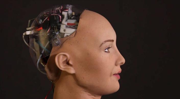 Sophia robot-head